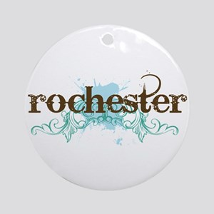 Rochester NY grunge Ornament (Round)