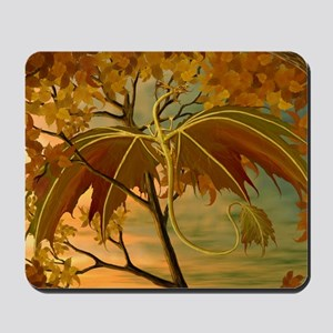 maple leaf dragon Mousepad