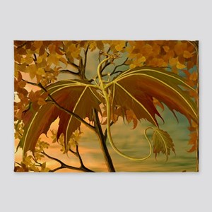 maple leaf dragon 5'x7'Area Rug