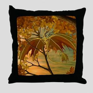 maple leaf dragon Throw Pillow