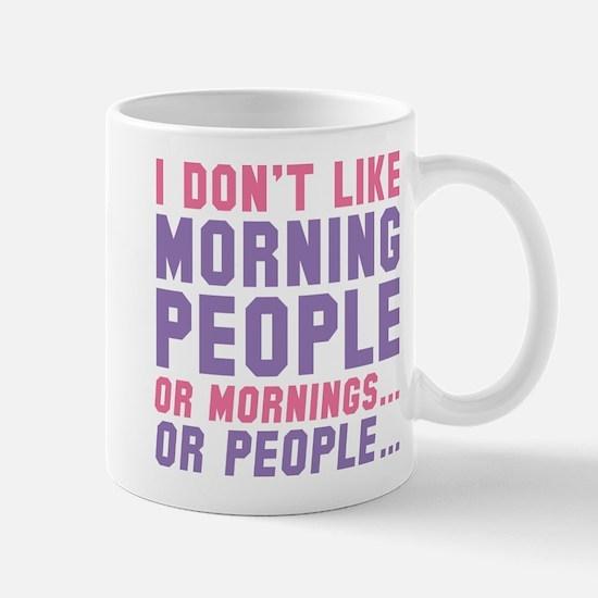 I Don't Like Morning People Large Mugs