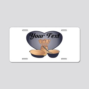 Cook or Chef Personalized Dark Blue Aluminum Licen