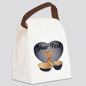 Cook or Chef Personalized Dark Blue Canvas Lunch B