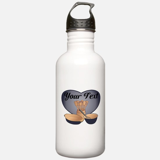 Cook or Chef Personalized Dark Blue Water Bottle