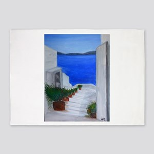 Oia Stairway 5'x7'Area Rug