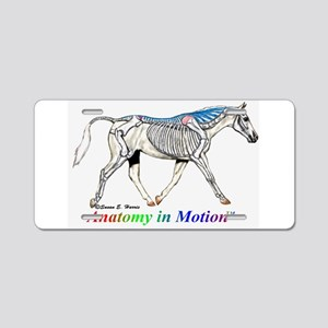 Visible horse skeleton Aluminum License Plate