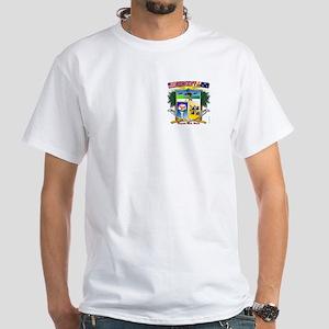 Pensacola Beach City Hall Bea White T Shirt