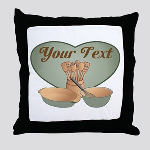 Cook or Chef Personalized Sage Green Throw Pillow