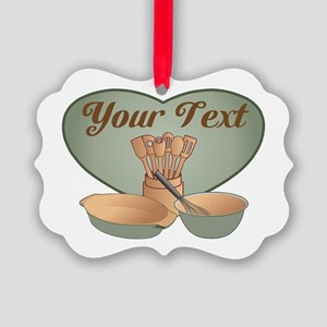 Cook or Chef Personalized Sage Gr Picture Ornament