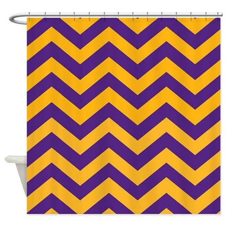 purple and gold shower curtains. Chevron Pattern: Purple \u0026 Gold Zig Shower Curtain And Curtains C