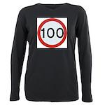 100 Plus Size Long Sleeve Tee
