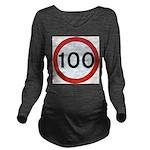 100 Long Sleeve Maternity T-Shirt