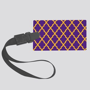 Moroccan Quatrefoil Pattern: Pur Large Luggage Tag