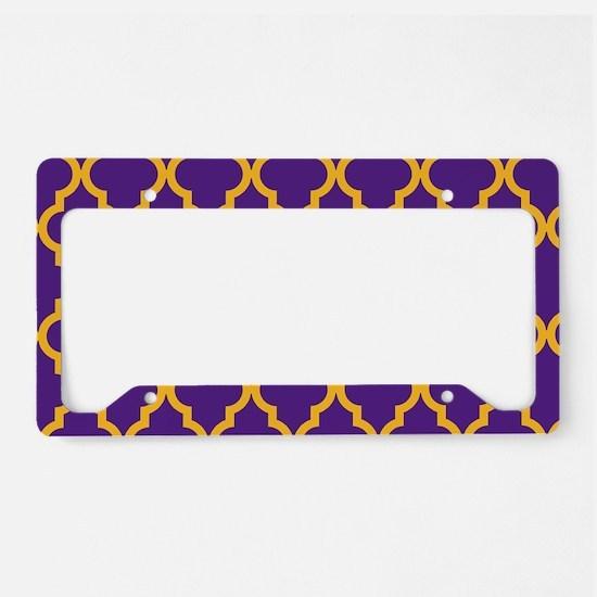 Moroccan Quatrefoil Pattern: License Plate Holder