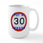 30 for a reason Mugs