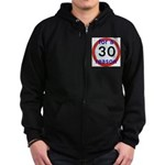 30 for a reason Zip Hoody