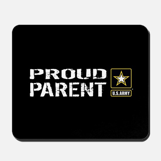 U.S. Army: Proud Parent (Black) Mousepad