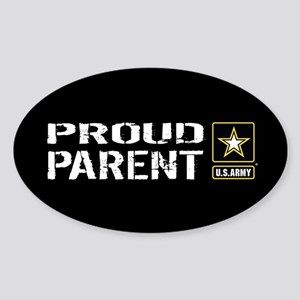 U.S. Army: Proud Parent (Black) Sticker (Oval)