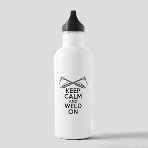 Welding Humor: Keep Calm and Weld On Water Bottle
