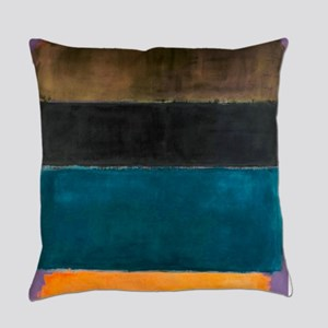 ROTHKO TEAL BROWN BLACK ORANGE Everyday Pillow