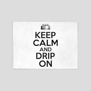 Vaping Humor: Keep Calm and Drip On 5'x7'Area Rug