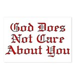 God Does Not Care About You Postcards (Package of