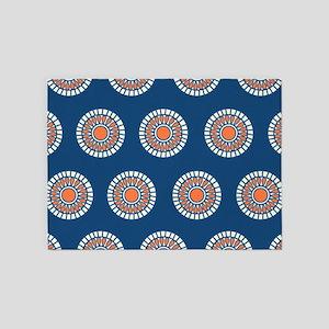 Preppy boho polka dot dots tribal p 5'x7'Area Rug
