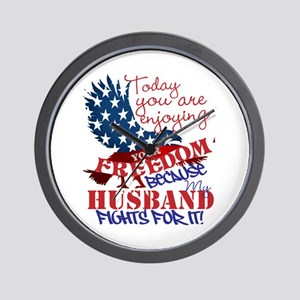 Fighting For Your Freedom Personalized Wall Clock