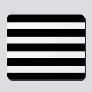 black and white stripe stripes striped Mousepad