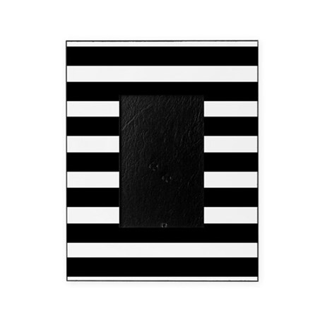 Black And White Stripe Stripes Strip Picture Frame By