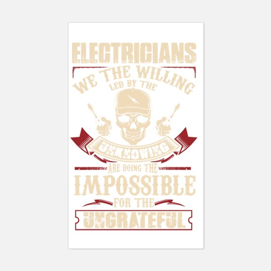 Cute Electrical engineer Sticker (Rectangle)