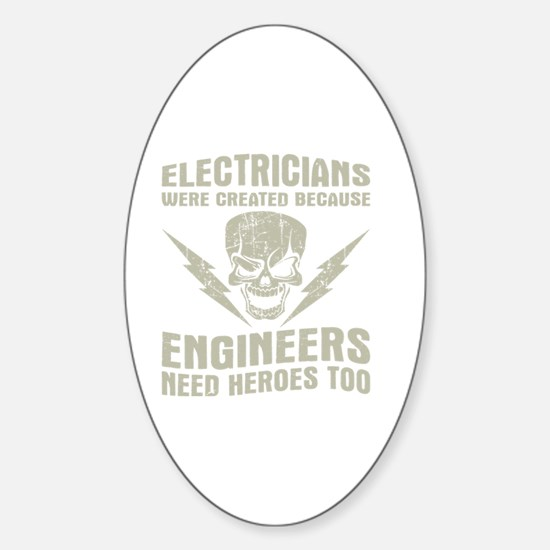 Unique Electrician Sticker (Oval)