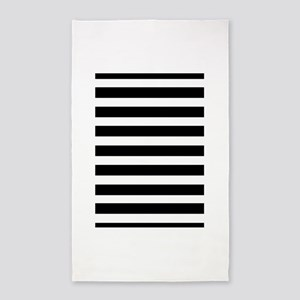 black and white stripe stripes striped Area Rug