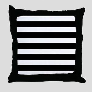 black and white stripe stripes stripe Throw Pillow