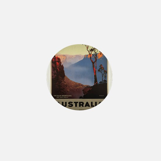 Vintage poster - Australia Mini Button