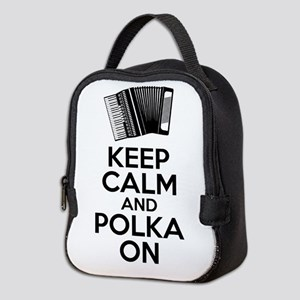 Keep Calm And Polka On Neoprene Lunch Bag