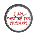 Part Of The Problem Wall Clock