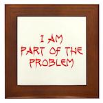 Part Of The Problem Framed Tile