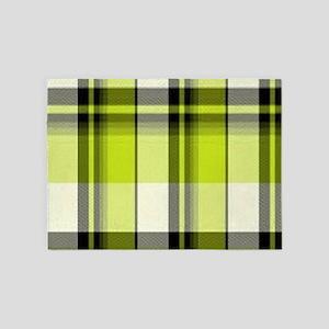 Olive Plaid 5'x7'Area Rug