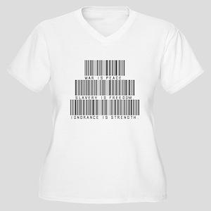 War is peace Women's Plus Size V-Neck T-Shirt
