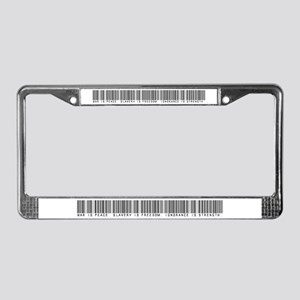 War is peace License Plate Frame