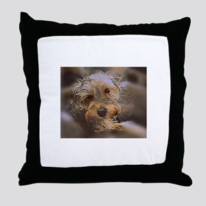 Penny the Yorkipoo Throw Pillow
