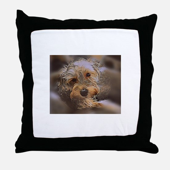 Penny the Yorkipoo Throw Pillow