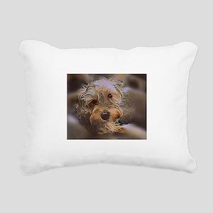 Penny the Yorkipoo Rectangular Canvas Pillow