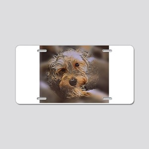 Penny the Yorkipoo Aluminum License Plate