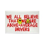 Above-Average Drivers Rectangle Magnet (10 pack)