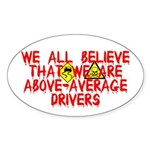 Above-Average Drivers Oval Sticker