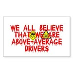 Above-Average Drivers Rectangle Sticker