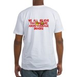 Above-Average Drivers Fitted T-Shirt