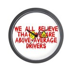 Above-Average Drivers Wall Clock
